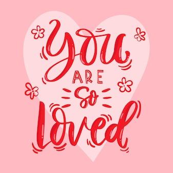 Lettering creativo e di ispirazione per l'amore di sé
