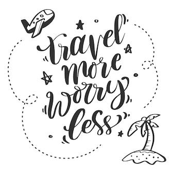 Lettering creativo e di ispirazione per l'avventura