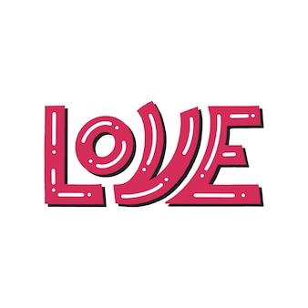 Lettering d'amore