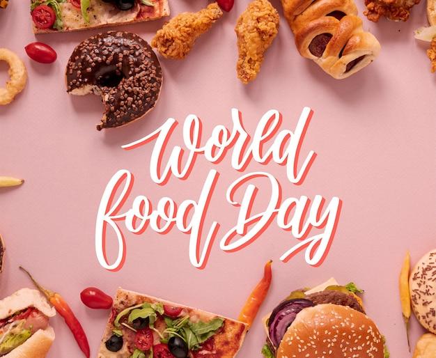 Lettering della giornata mondiale dell'alimentazione