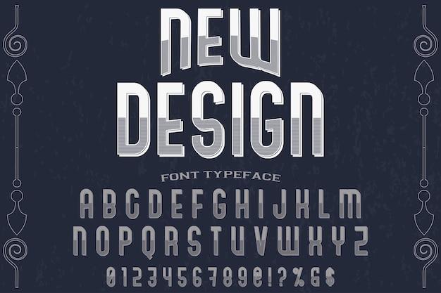 Lettering design etichetta carattere tipografico nuovo design