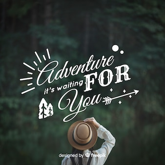 Lettering di avventura con foto