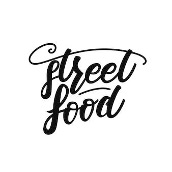 Lettering di cibo di strada
