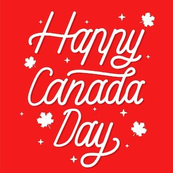 Lettering di giorno del canada