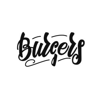 Lettering di hamburger