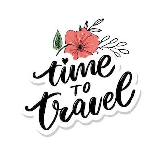 Lettering di ispirazione di stile di vita di viaggio