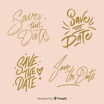 Lettering di nozze