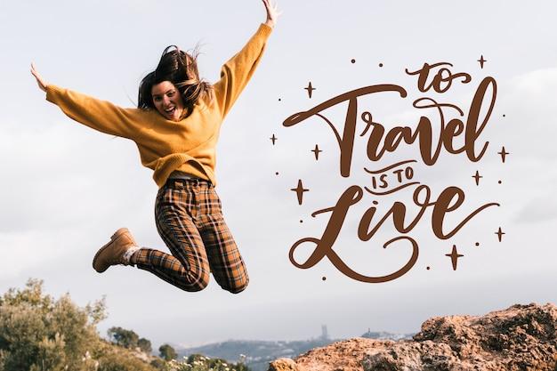 Lettering di viaggio avventura