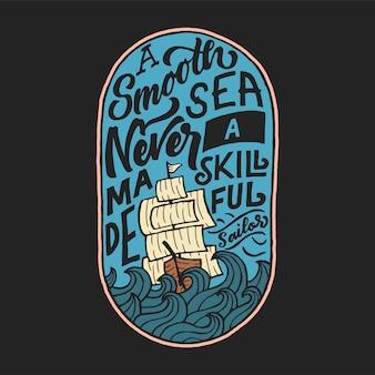 Lettering distintivo citazione marinaio