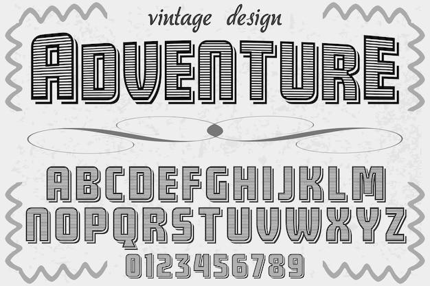 Lettering etichetta design avventura