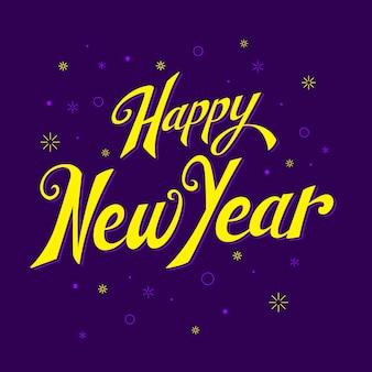 Lettering felice anno nuovo sfondo 2020