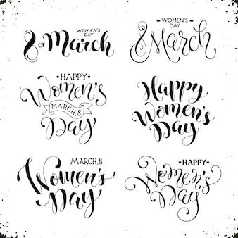 Lettering felice giorno delle donne