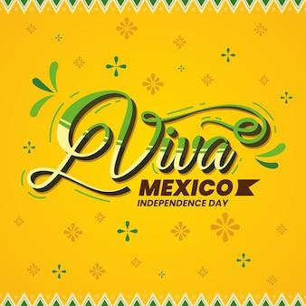 Lettering festa dell'indipendenza messicana