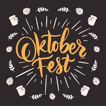 Lettering festival dell'oktoberfest