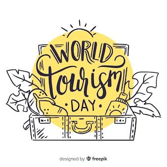 Lettering giornata del turismo mondiale