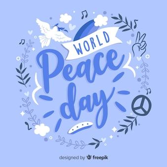 Lettering giorno della pace globale