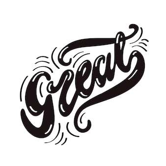 Lettering great. illustrazione vettoriale