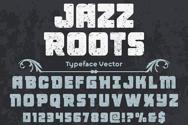 Lettering handcrafted label design jazz roots