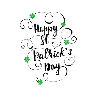 Lettering happy st. patrick's day. illustrazione vettoriale