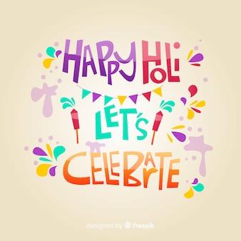 Lettering holi felice