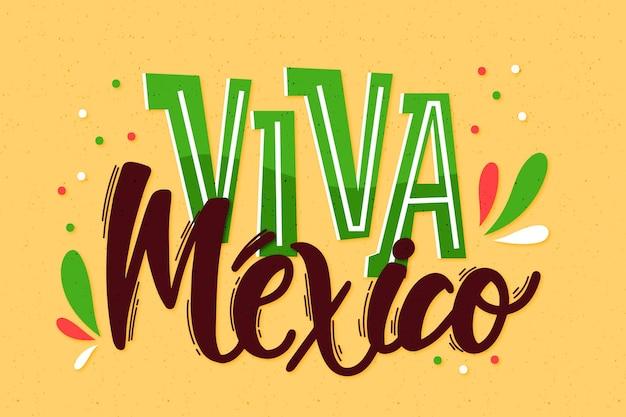 Lettering independencia de mexico