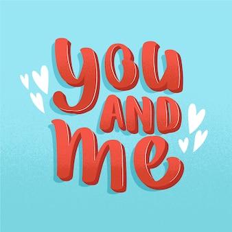 Lettering matrimonio carino