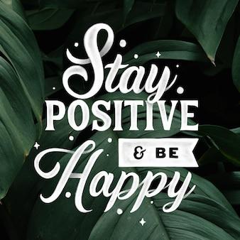 Lettering mente positiva con foto