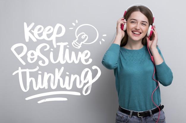 Lettering motivazionale mente positiva