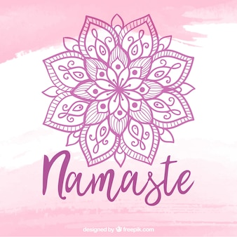 Lettering namaste con mandala