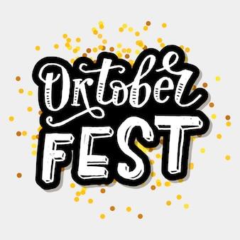 Lettering oktoberfest testo calligrafia