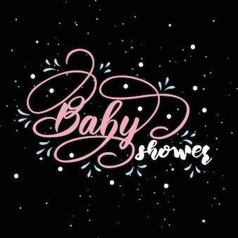 Lettering per baby shower.