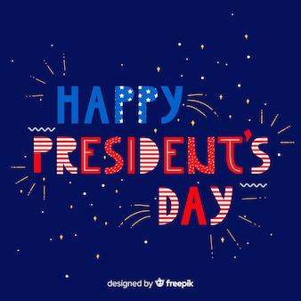 Lettering president's day