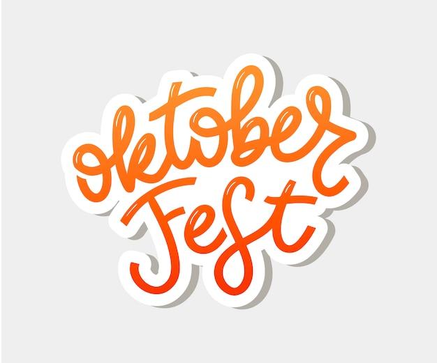 Lettering scritto a mano dell'oktoberfest.