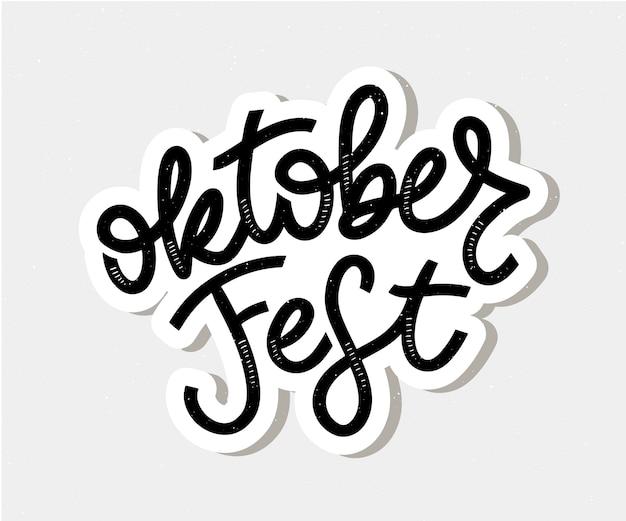 Lettering scritto a mano dell'oktoberfest