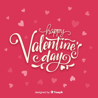 Lettering sfondo di San Valentino