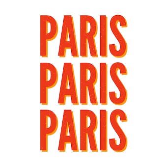 Lettering slogan tipografia di parigi