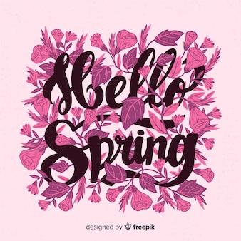 Lettering spring