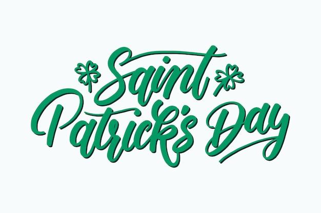 Lettering st. giorno di patrick