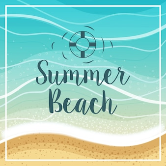Lettering summer beach
