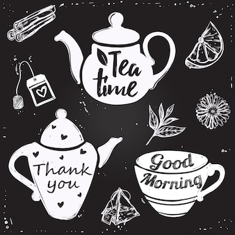 Lettering tazza di tè