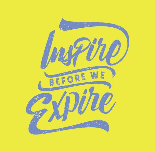 Lettering tipografia ispirazione