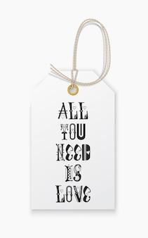 Lettering tutto ciò di cui hai bisogno è amore