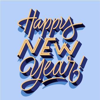 Lettering vintage felice anno nuovo