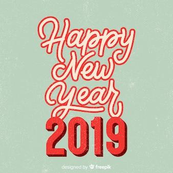 Lettering vintage nuovo anno 2019