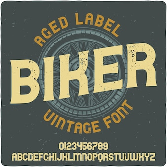 Lettering vintage per motociclisti