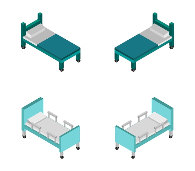 Letto d'ospedale isometrico