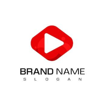 Lettore multimediale logo design ispirazione