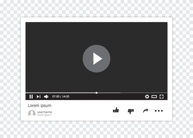 Lettore video online isolato