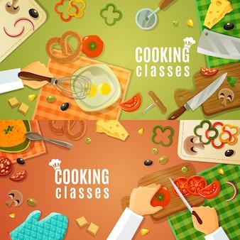 Lezioni di cucina top view