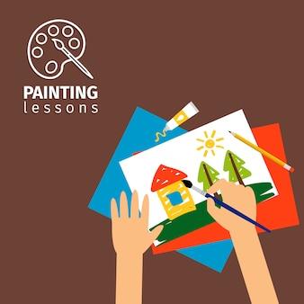 Lezioni di pittura per bambini